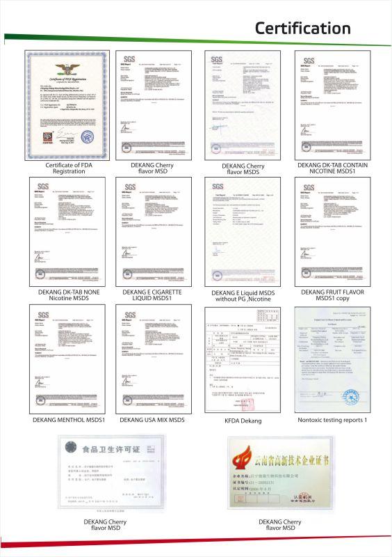 certificat dekang