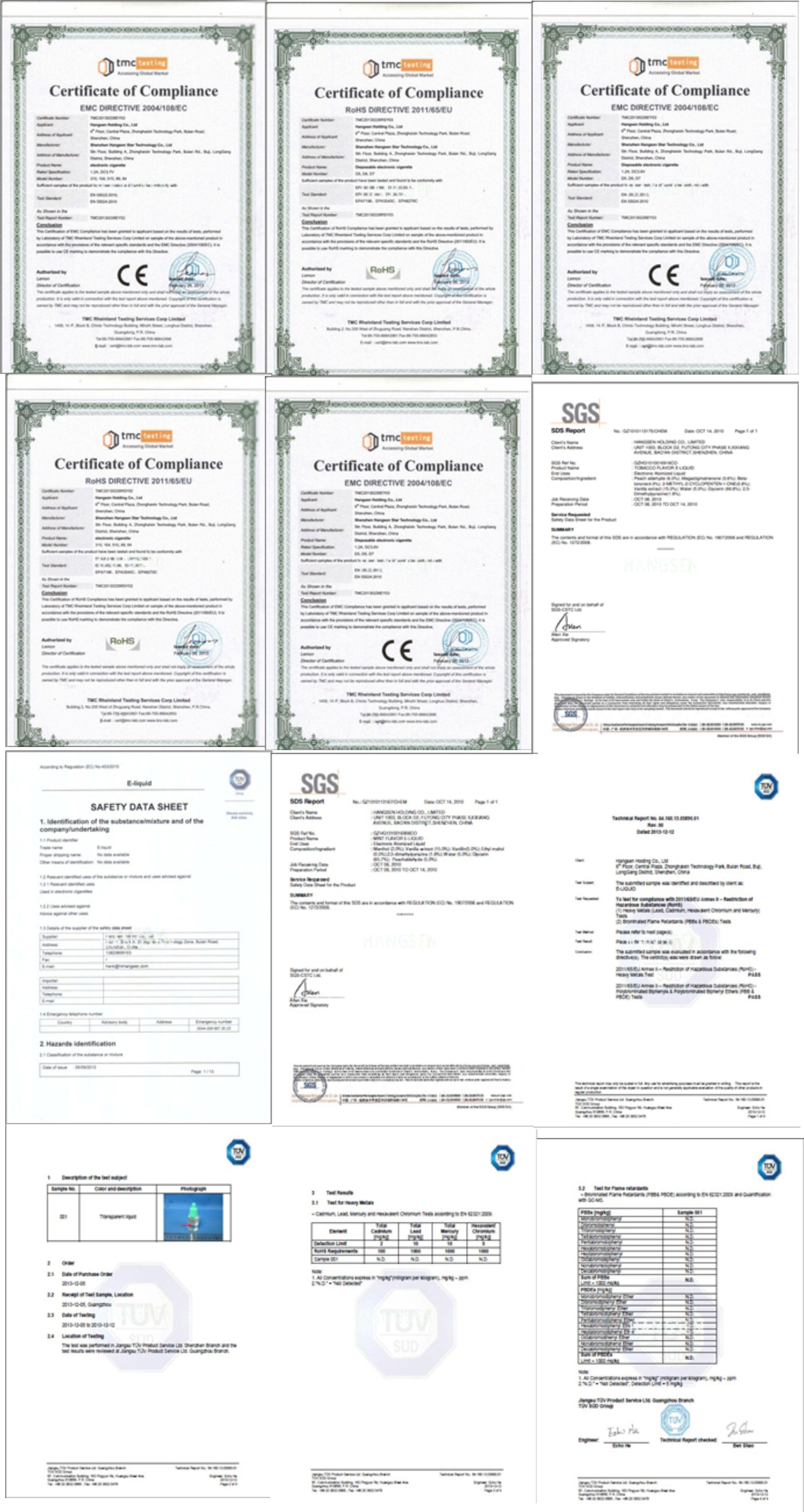 certificare hangsen