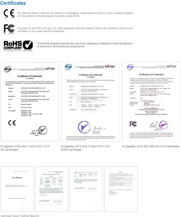 certificat joyetech